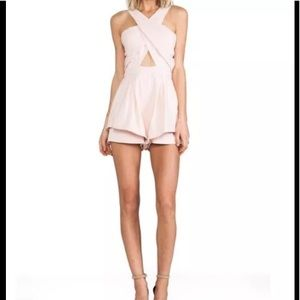 RARE Finders Keepers Pink Tailored Romper Sz S